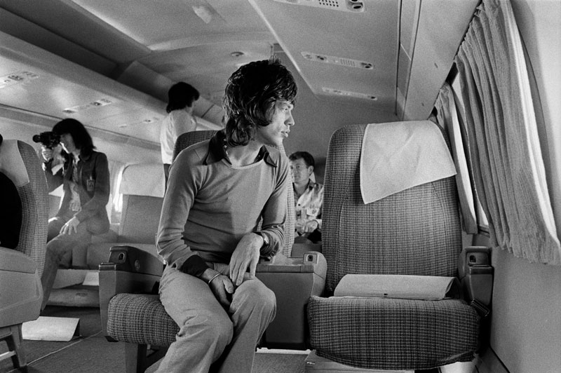 Mick Jagger, Airplane, 1972