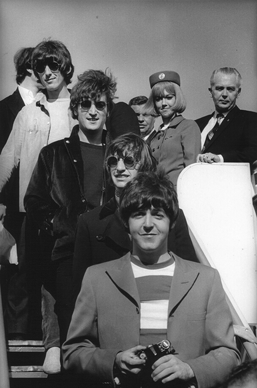 The Beatles, Exiting Plane, SFO, 1966