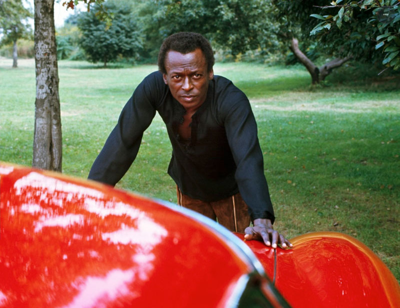 Miles Davis Leans on his Ferrari 275 GTB, New York City, October 1969