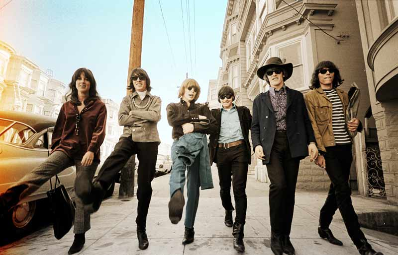 Jefferson Airplane Colorized, The Haight, San Francisco, 1967