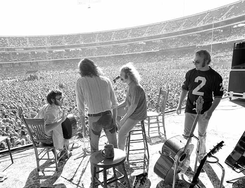 Crosby, Stills, Nash & Young Performing, Oakland, CA, 1974