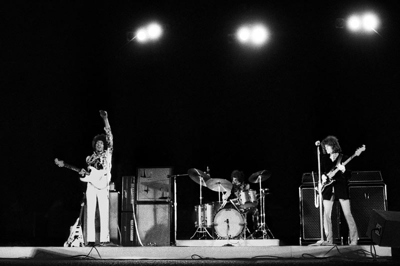 Jimi Hendrix Experience Performing at the Hollywood Bowl, 1967