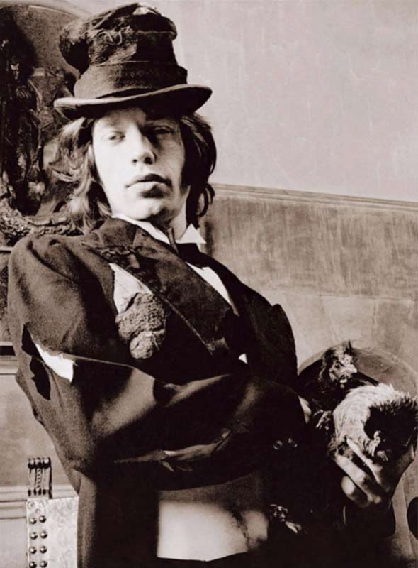 Mick Jagger with Chicken, Beggars Banquet Album Cover Shoot, London 1968