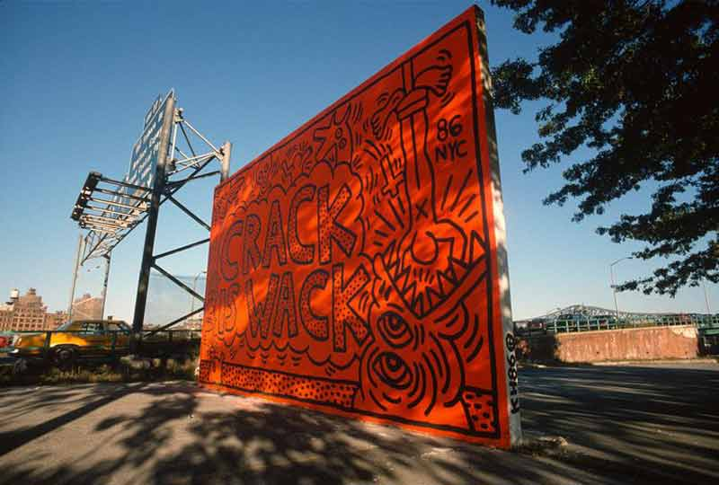 "Keith Haring, ""Crack is Wack"", Harlem, NYC, 1986"