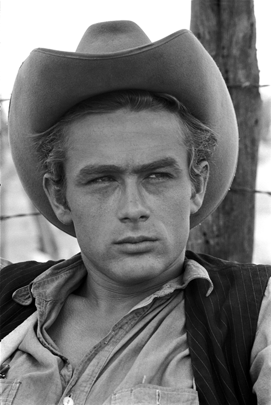 James Dean Portrait in a Cowboy Hat, on the Set of Giant, TX, 1955 (Facing Camera)