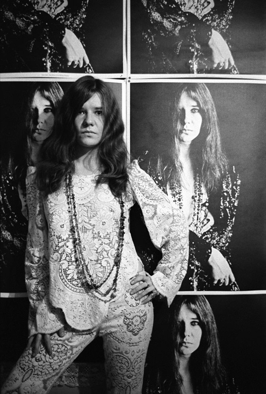 Janis Joplin Posing with Posters, San Francisco, 1968