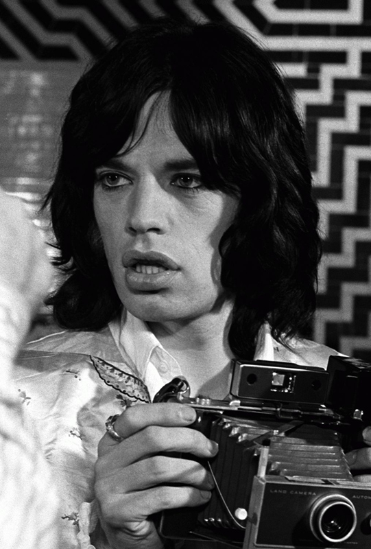 Mick Jagger with Camera, on the Set of Performance, 1968