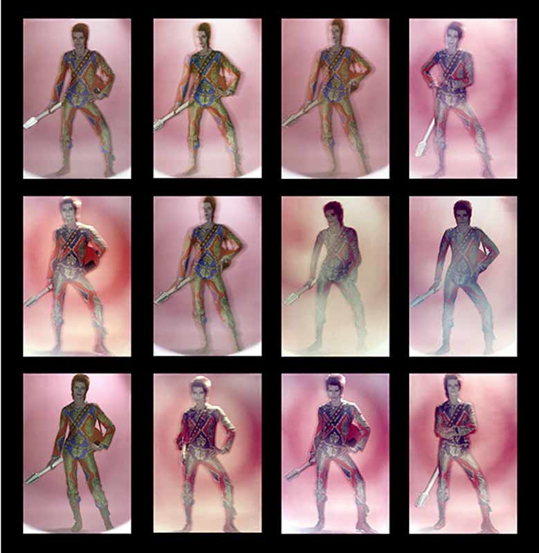 David Bowie, Ziggy Stardust Contact Sheet, 1972