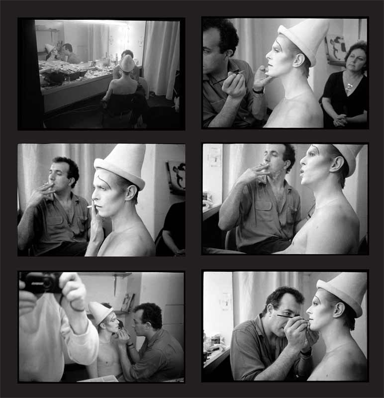 David Bowie, Scary Monsters Make-up Contact Sheet, 1980