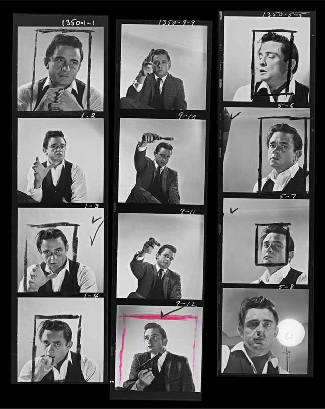 Johnny Cash Proof Sheet Photo Studio, August, 1960