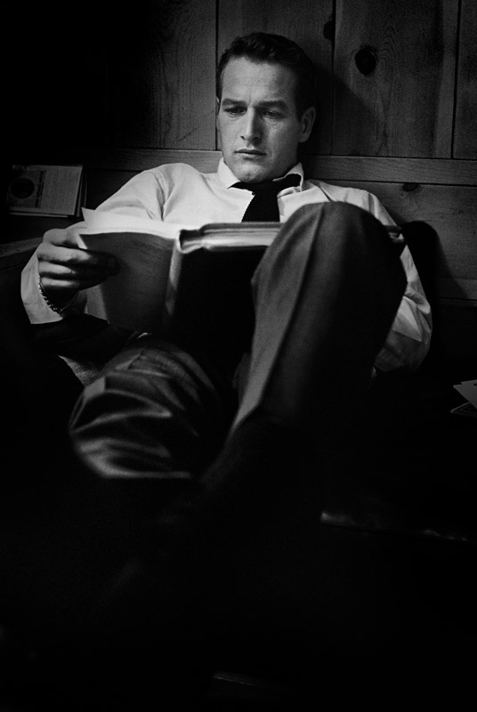 Paul Newman, Rehearsing Lines Backstage, Los Angeles, CA, September, 1961