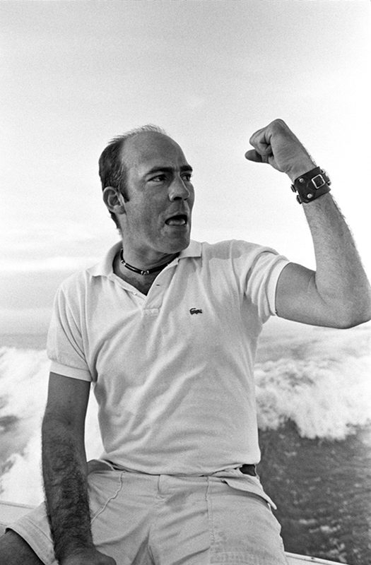 Hunter S. Thompson, Looking for Sharks, Cozumel, Mexico, 1974