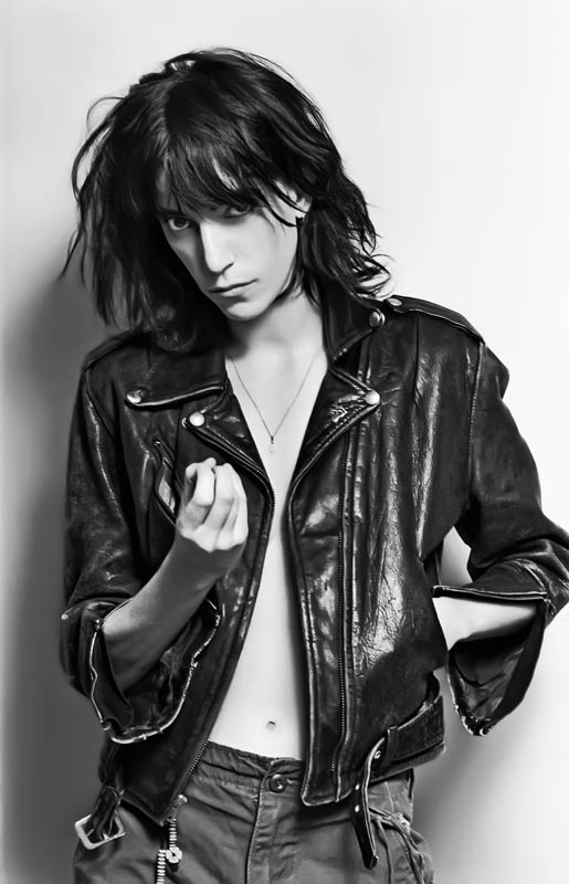 Patti Smith Portrait in Leather Jacket, 1976