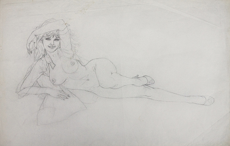 Study of a Reclining Nude Young Woman, 1971