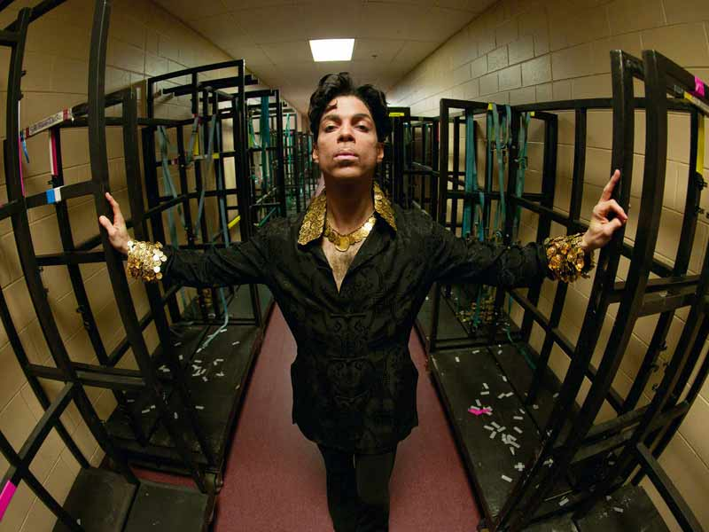 "Prince Portrait Among Cages, Backstage - Basis for ""Lotus Flow3r"" Album Cover Musicology Tour, Philadelphia, 2004"