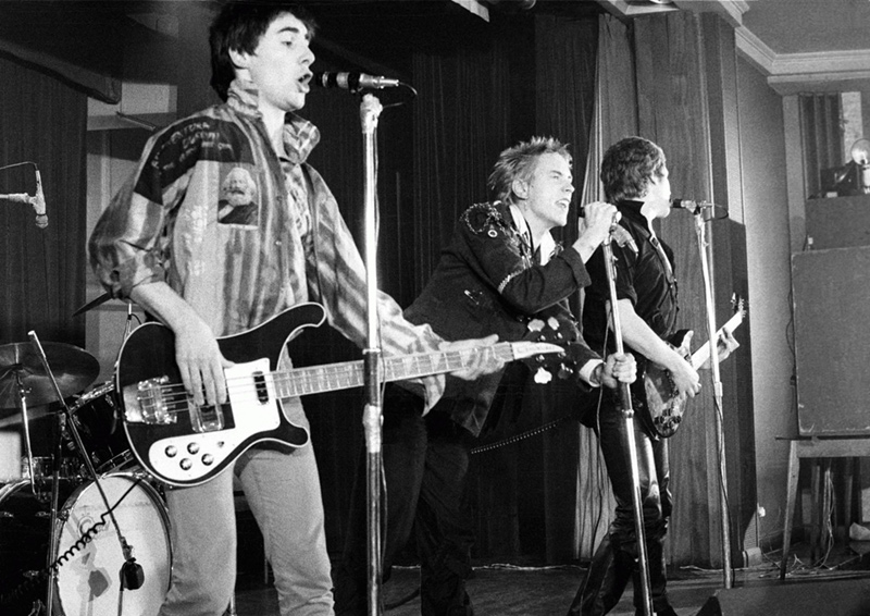 The Sex Pistols On Stage, Notre Dame Hall, London, 1976