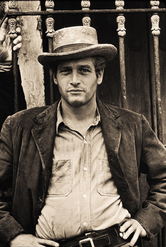 Paul Newman Portrait as Butch Cassidy, Mexico, 1968