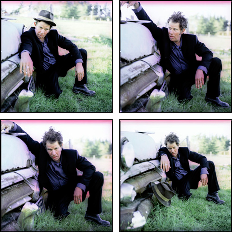 Tom Waits Portraits by a Vintage Car Grill Quad, Northern California, 1999
