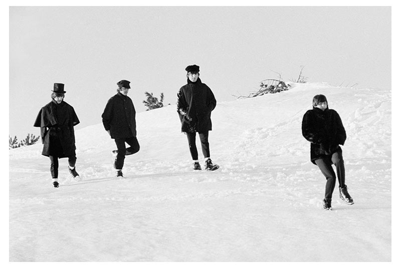 The Beatles Walking in Snow, Austria, 1965 (Ref.#B24)