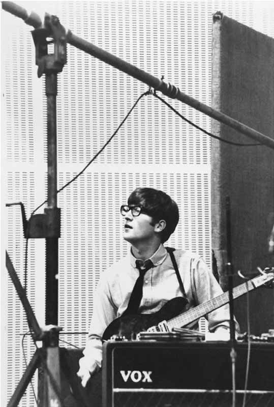 John Lennon With Guitar and Vox Amp, Abbey Road Studios, 1963