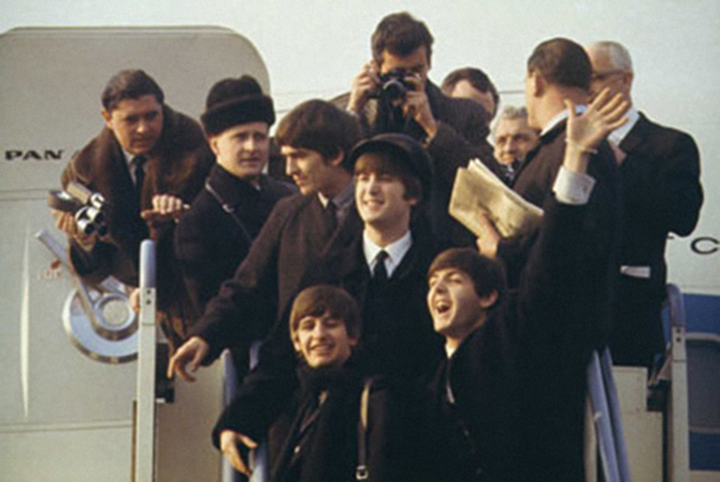 The Beatles, Arriving At JFK Airport, February, 1964