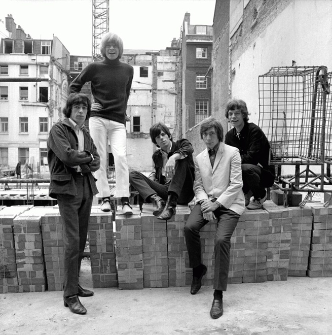 The Rolling Stones, On The Wall (E-5), Mason's Yard, London, 1965
