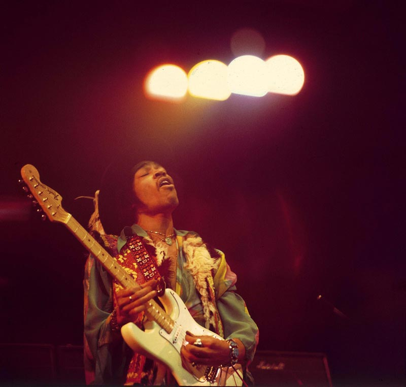 Jimi Hendrix Under Spotlights, Royal Albert Hall, February, 1969