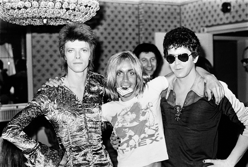 David Bowie, Iggy Pop and Lou Reed, London, 1972