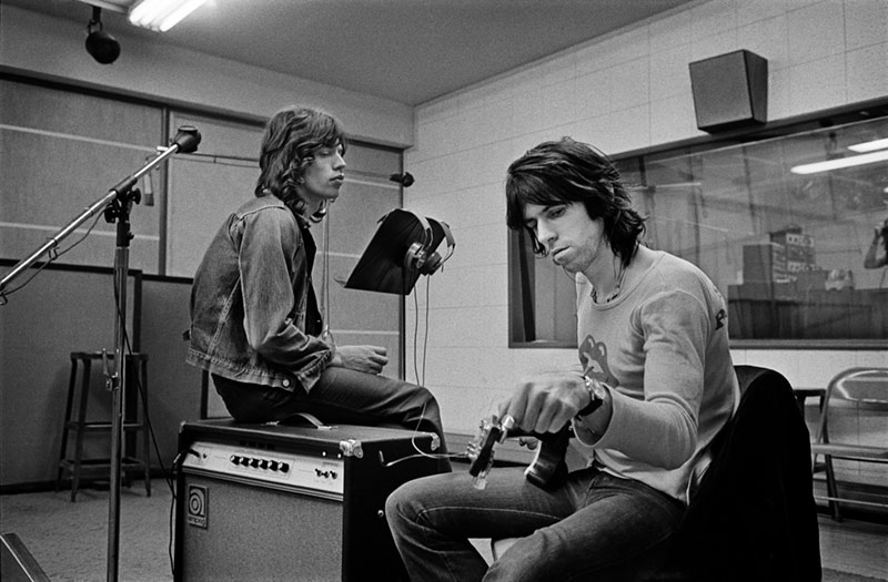 Mick Jagger and Keith Richards, Sunset Studio, 1972