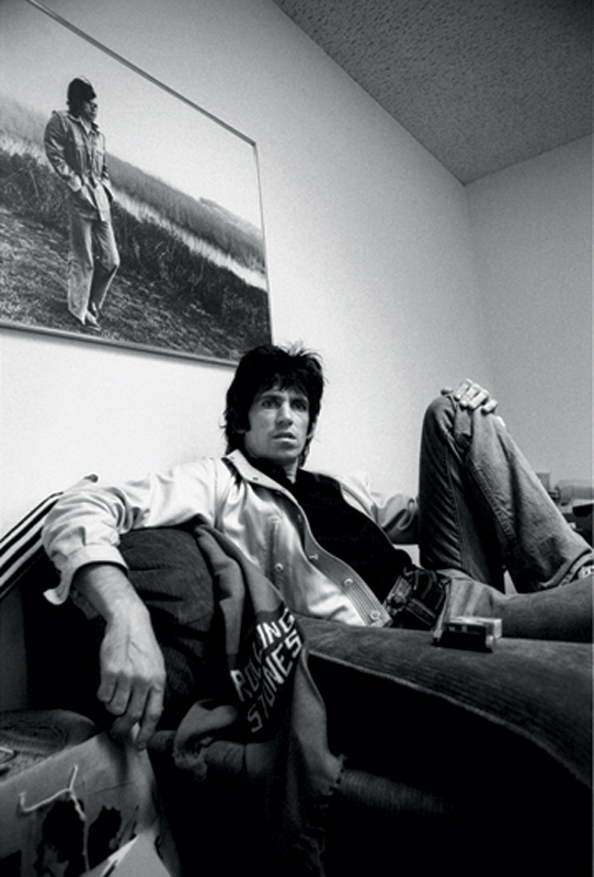 Keith Richards on the Couch, Stones NY Office, 1977