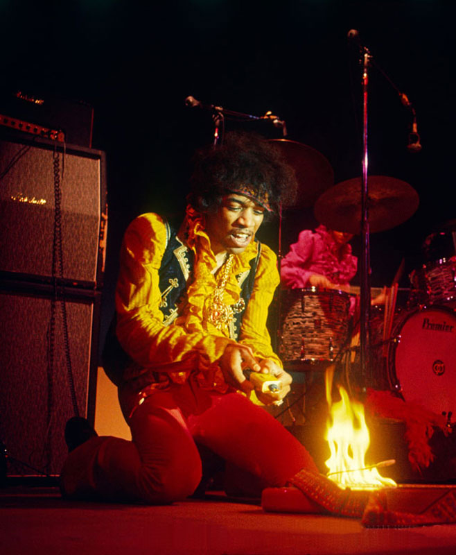 Jimi Hendrix Burning his Strat, Monterey Pop Festival, 1967