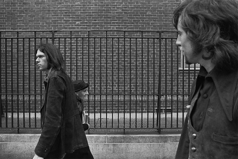 Neil Young & Graham Nash Walking, NYC, 1970