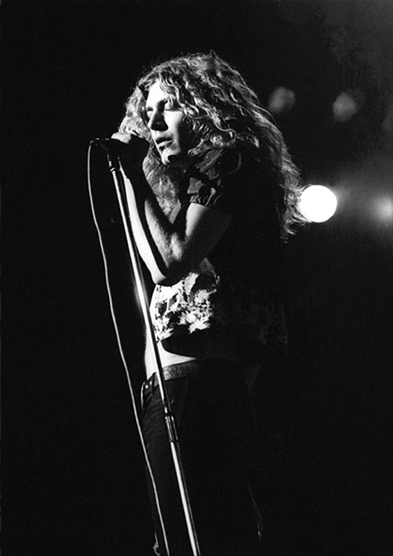 Robert Plant Performing, UK Tour, 1972