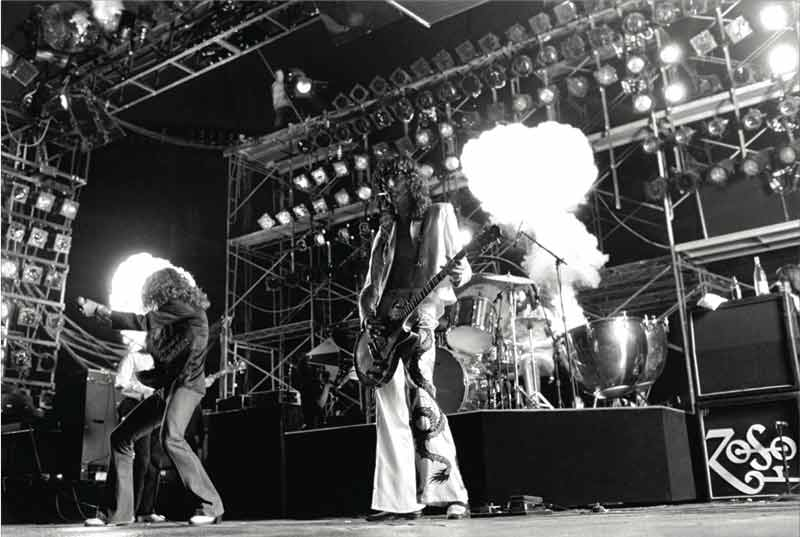 Led Zeppelin Onstage (BW), Pontiac, Michigan, 1977