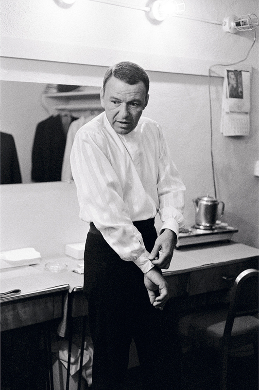 Frank Sinatra Fixing his Cuff in his Dressing Room, London, 1989