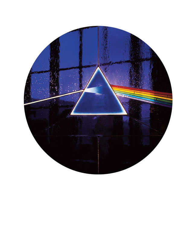 Pink Floyd, Dark Side 30th Anniversary Reissue Album Cover, 2003 (Circle)