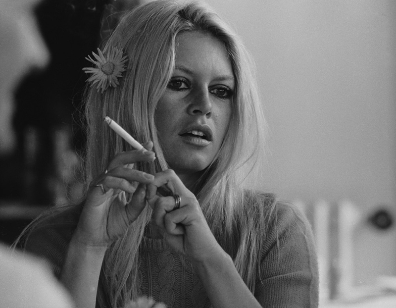 Brigitte Bardot with Cigarette, on the Set of Shalako, 1968