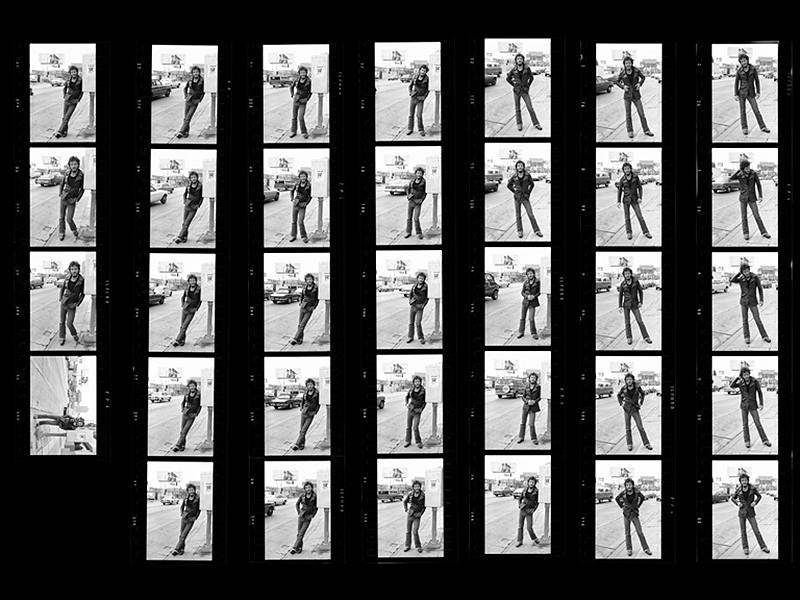 Bruce Springsteen Sunset Strip Contact Sheet, 1975