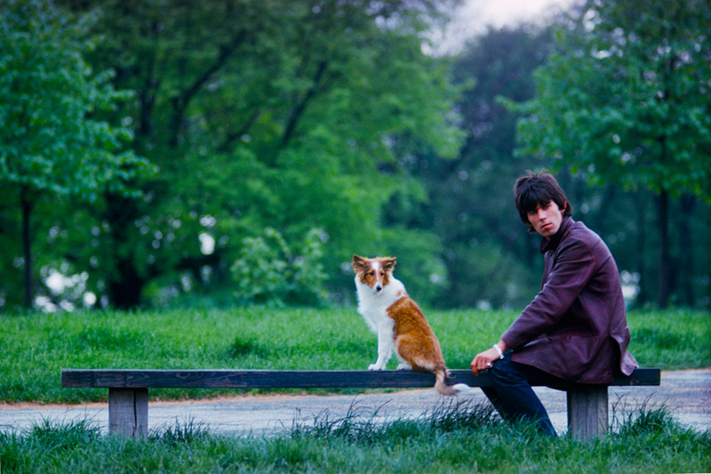 Keith Richards with Ratbag, Hyde Park, 1965 (color)