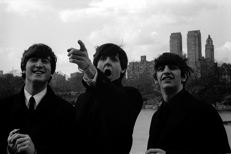 The Beatles in Central Park, NY, 1964 (Paul Pointing)