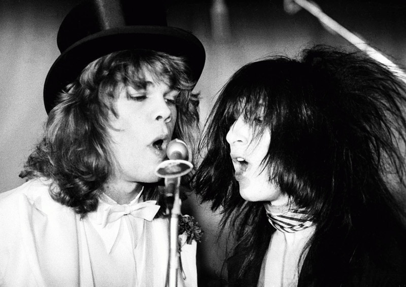 New York Dolls, David Johansen & Johnny Thunders, West London, 1973