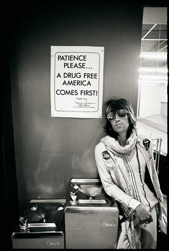 "Keith Richards ""Patience Please"", SEA-TAC Airport Customs, 1972"