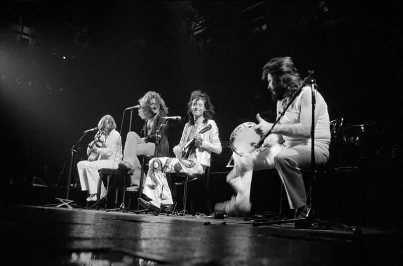Led Zeppelin Acoustic Set Onstage, New York City, 1977