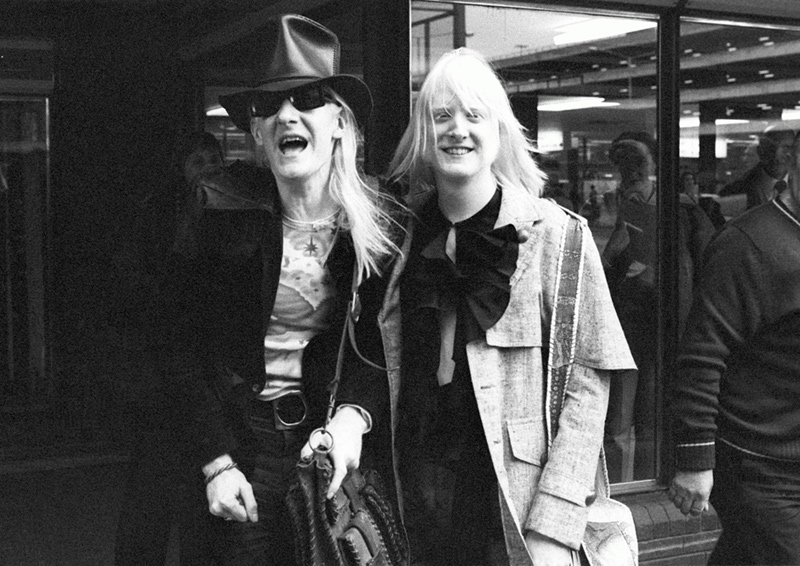 Edgar and Johnny Winter Arriving at Heathrow, 1974