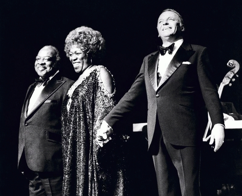 Frank Sinatra Onstage With Count Basie and Sarah Vaughan, London, 1975