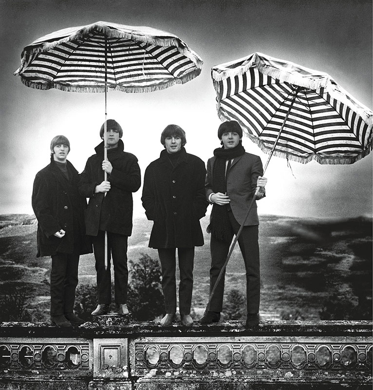 The Beatles, Umbrella, Perthshire, Scotland, 1964