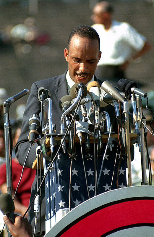 Albert Raby Speaking at Soldier Field, Chicago, 1966