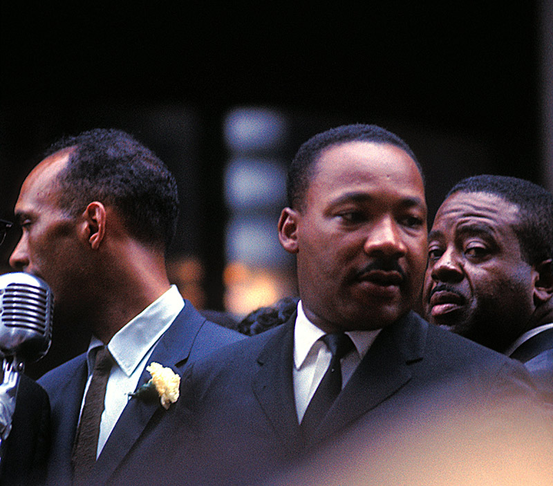 Albert Raby, Martin Luther King Jr., & Ralph Abernathy, City Hall, Chicago, 1966