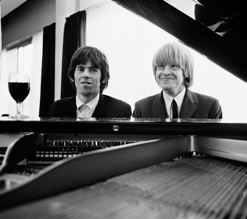 Keith Richards and Brian Jones at the Piano, 1965