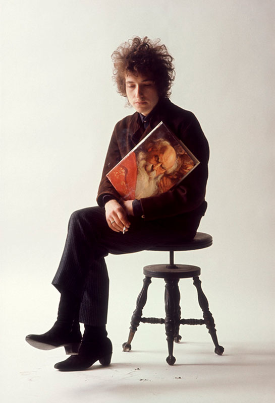 Bob Dylan Color Studio Portrait, Greatest Hits Album Cover Outtake, NYC, 1965
